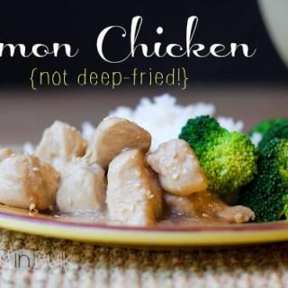 Easy Lemon Chicken Recipe {Not Deep-Fried!}