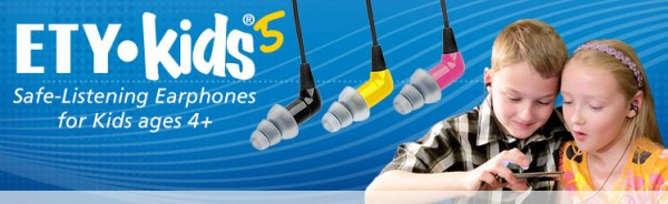 ety kids safe listening earphones