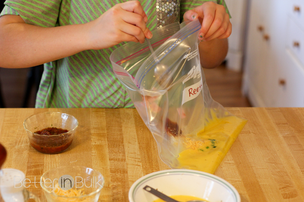 build-your-own omelet in a bag