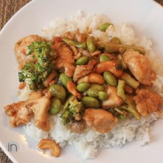 Spicy Honey Cashew Chicken