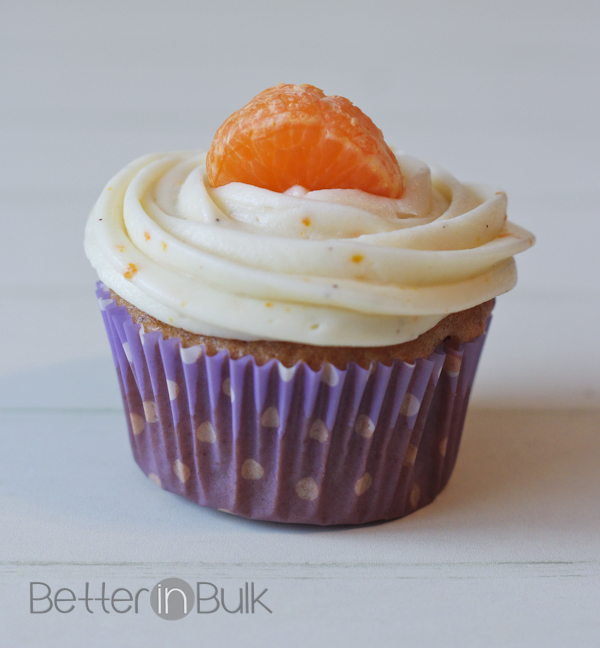 orange spice cupcakes with orange cream cheese frosting