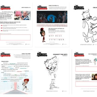 Mr. Peabody and Sherman Coloring Pages and Activity Sheets