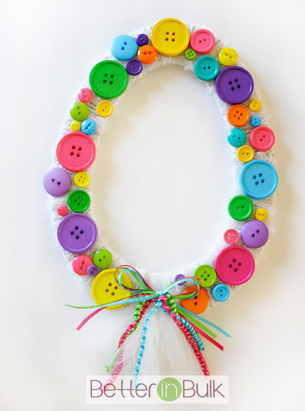 Spring Easter Egg Button Wreath main