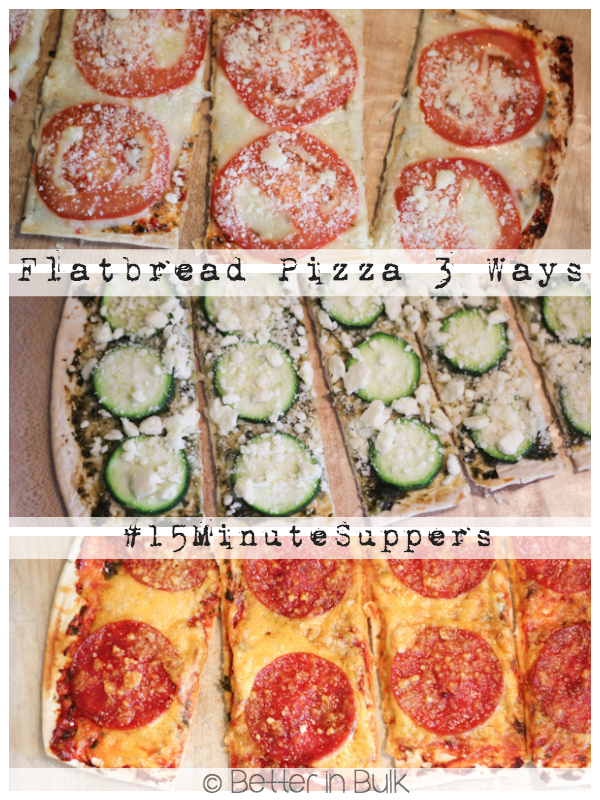 Flatbread Pizza #15 Minute Suppers