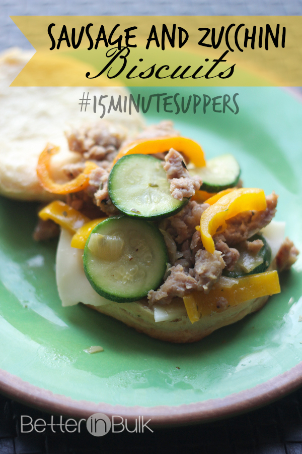 sausage zucchini biscuits #15minutesuppers