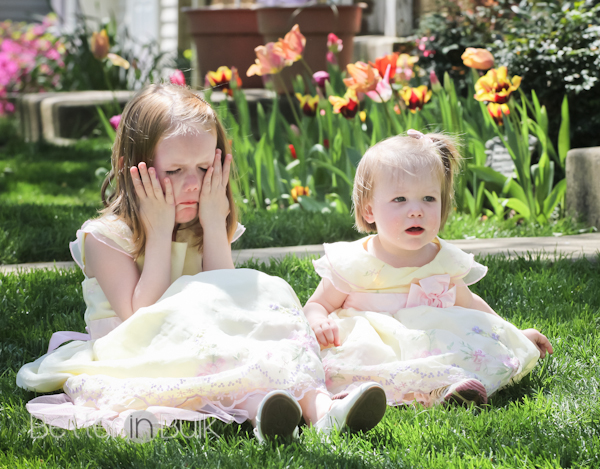 """This picture is one that I took of my nieces on Easter 2 years ago. It has nothing to do with Jodi's post except that I can imagine my niece saying """"It's not fair!"""""""