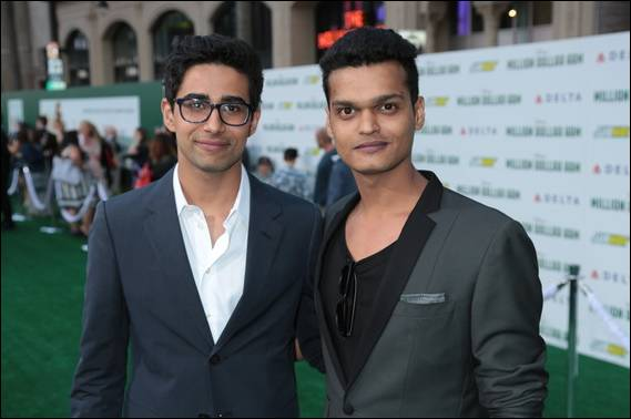 Suraj and Madhur at the Million Dollar Arm Premiere, Hollywood Photo credit: ©Disney