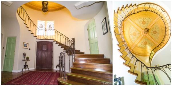 Staircase in Walt Disney's Woking Way home