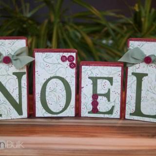 NOEL Blocks Christmas Craft