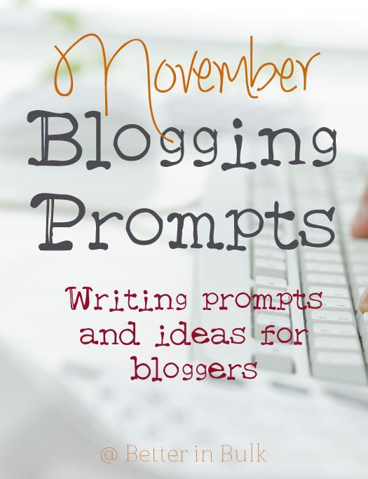 November blogging prompts