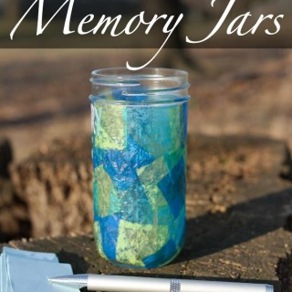 New Year's Stained Glass Memory Jars #Craft