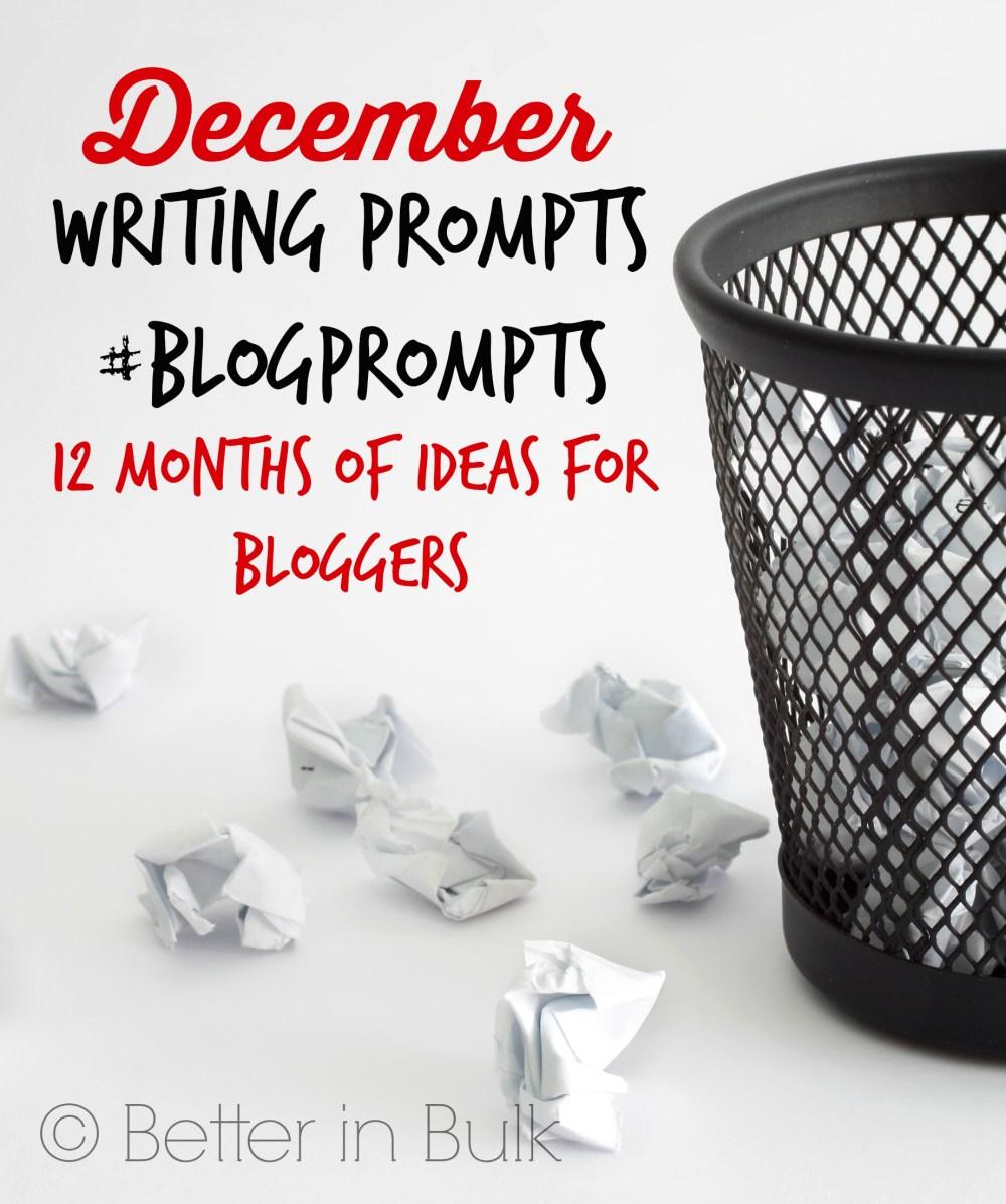 December blog prompts