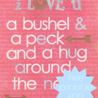 Valentine's Day Craft Wall Hanging and Printable #CreativeHOP