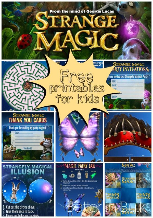 Strange Magic printables