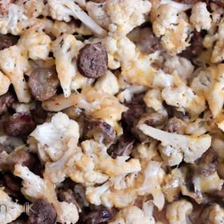 Roasted Cajun Cauliflower and Sausage #MeatballMasters