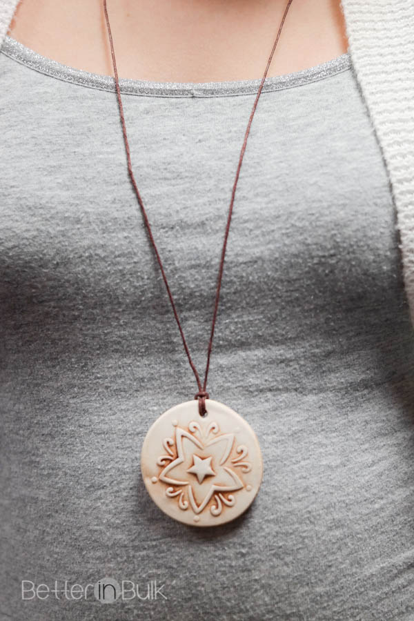 This DIY antiqued clay pendant craft is so easy to customize. They'd make a great gift or hand made accessory to keep for yourself!