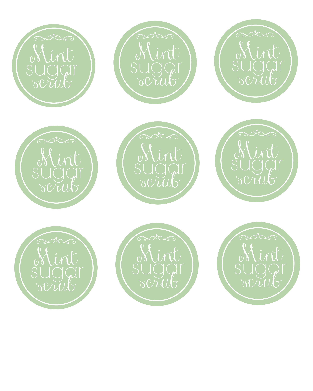Diy Easy Mint Sugar Scrub Printable Labels