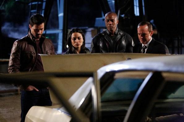 "BRETT DALTON, MAYA STOJAN, J. AUGUST RICHARDS, CLARK GREGG from  ""The Frenemy of My Enemy""  on ""Marvel's Agents of S.H.I.E.L.D.,"" TUESDAY, APRIL 21 on ABC (ABC/Kelsey McNeal)"