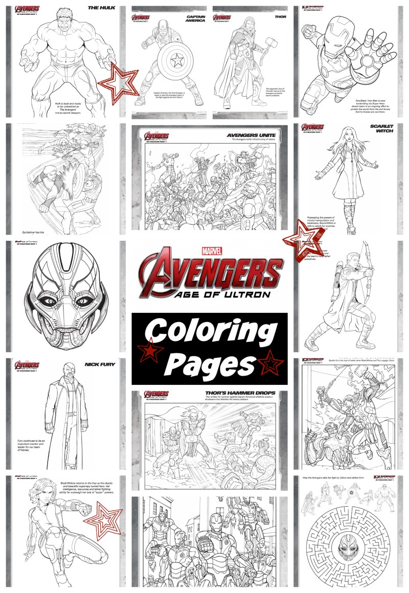 Avengers: Age of Ultron Coloring Pages #AvengersEvent #Printables
