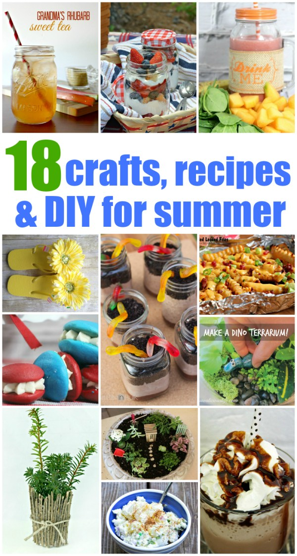 18 crafts recipes and DIY for summer #CreativeHOP