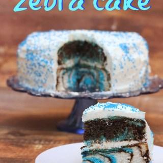 how to make a 3-color zebra cake