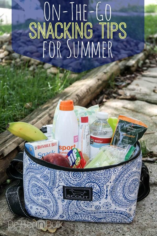 On the go snacking tips for summertime #TargetRun