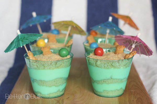 Sand Pudding Recipe - Vanilla Oreos and vanilla pudding with a beach twist!