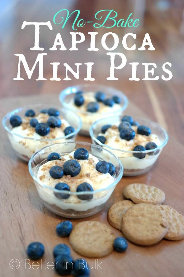 No-bake tapioca mini pies with Kozy Shack Pudding