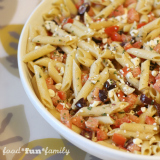 Fresh Vegetarian Greek Pasta