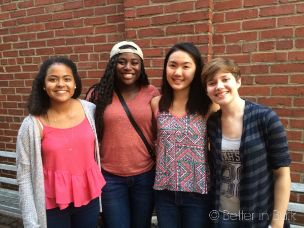 The girls in Afterglow Quartet got together last month to sing in an alley!