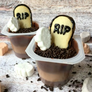 Ghosts in a Graveyard Pudding Cups
