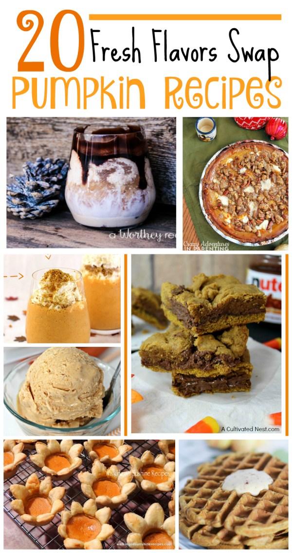 Pumpkin Recipes Fresh Flavors Swap Recipe Round Up