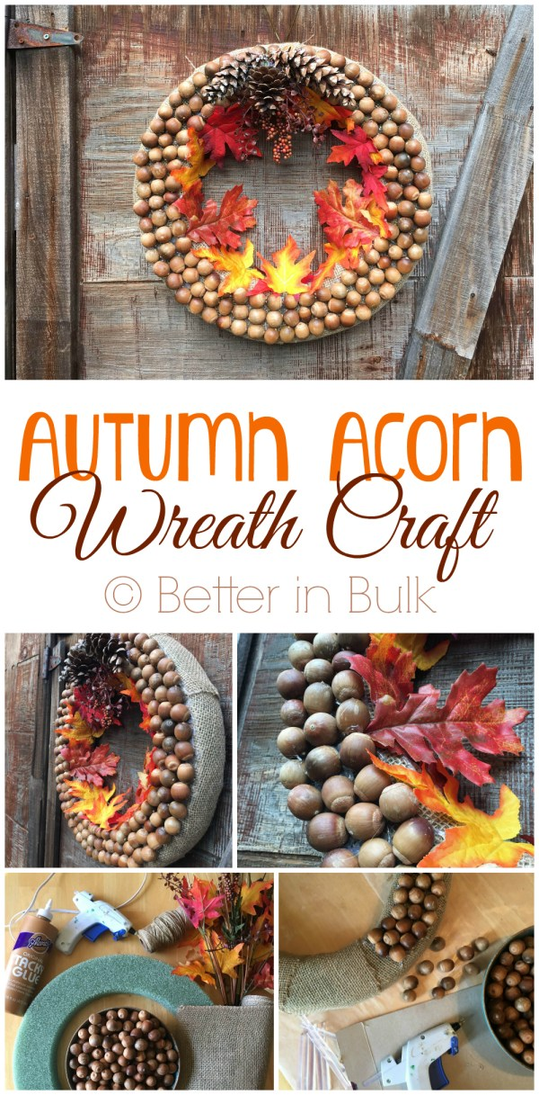 Autumn Acorn Wreath craft at Better in Bulk