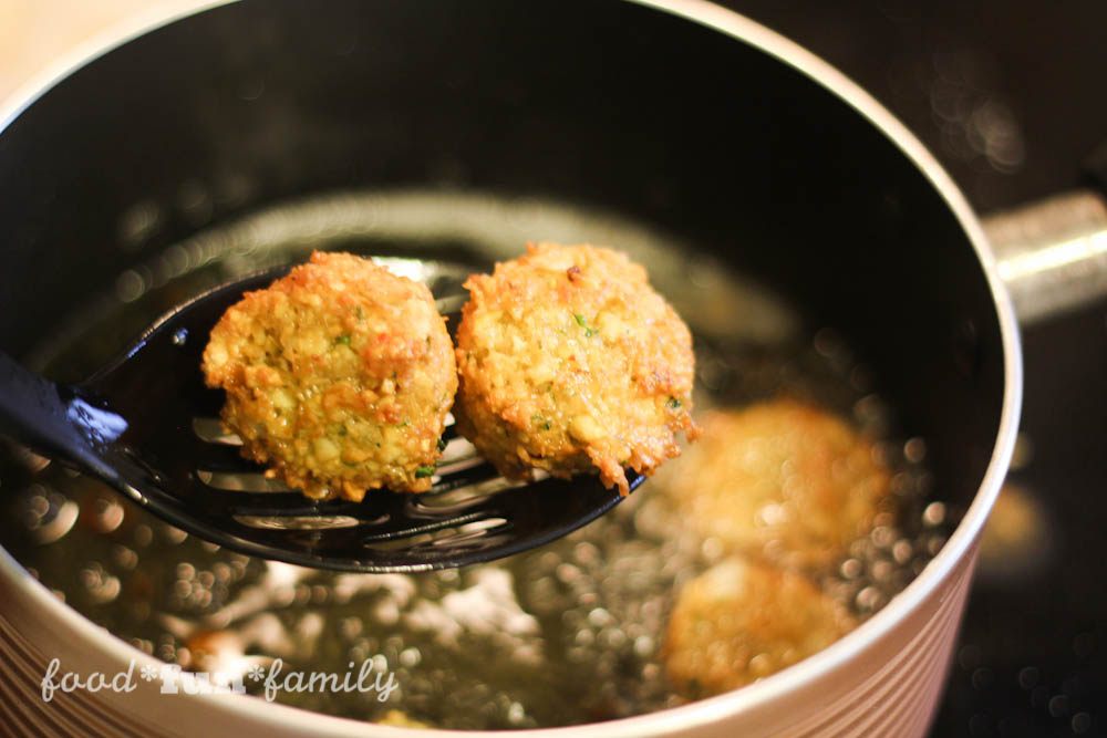 Magnus Chase Favorite Falafel Recipe from Food Fun Family with yogurt dill dip