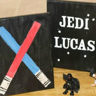 DIY Star Wars Canvas Art