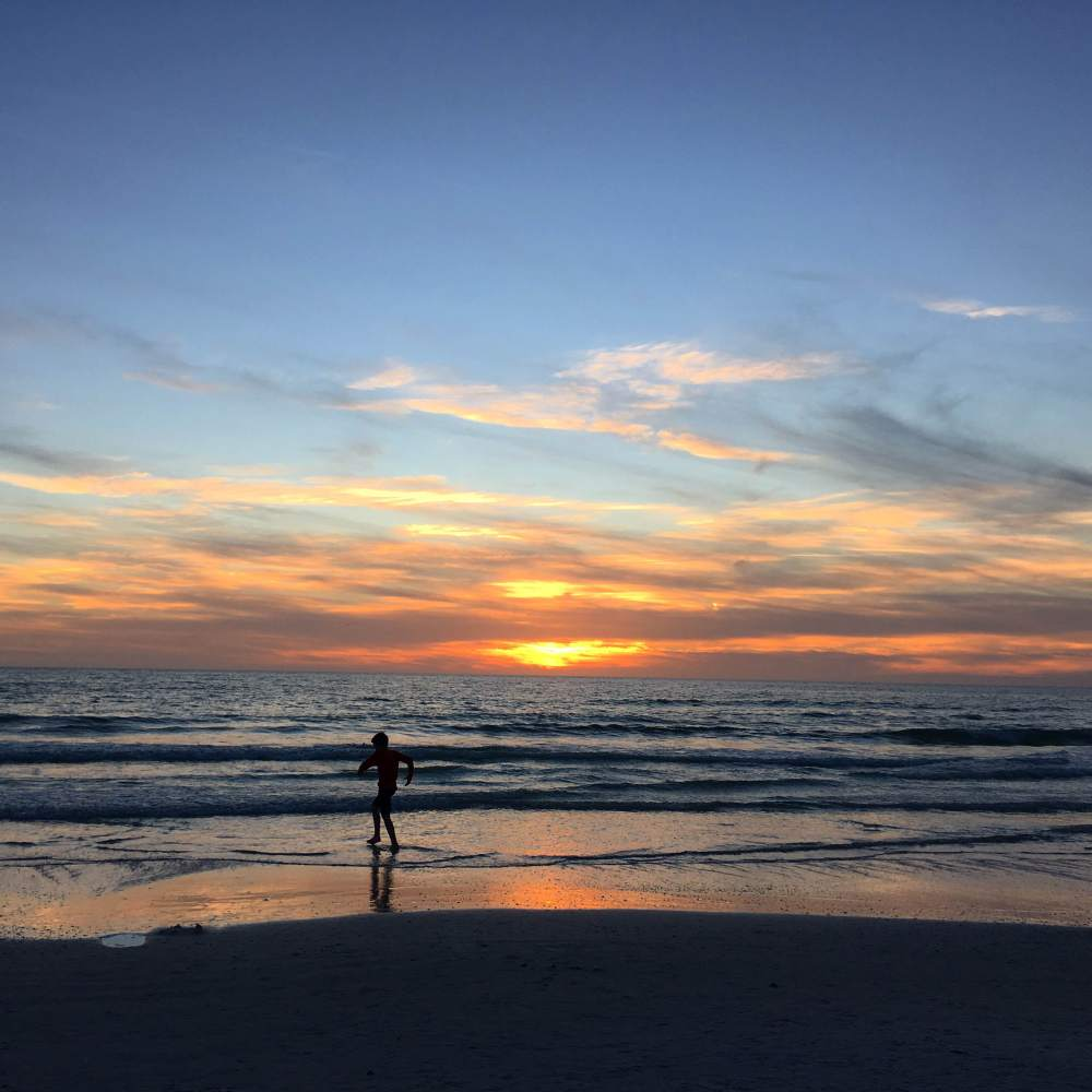 Florida Sunset at Siesta Key by Food Fun Family