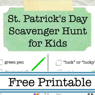 Looking for a fun activity to celebrate St. Patrick's Day with your kids? Enjoy this FREE printable St. Patrick's Day Scavenger Hunt Free Printable for Kids from Food Fun Family!