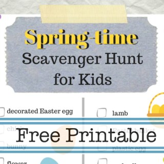 Free printable Spring Time Scavenger Hunt for kids