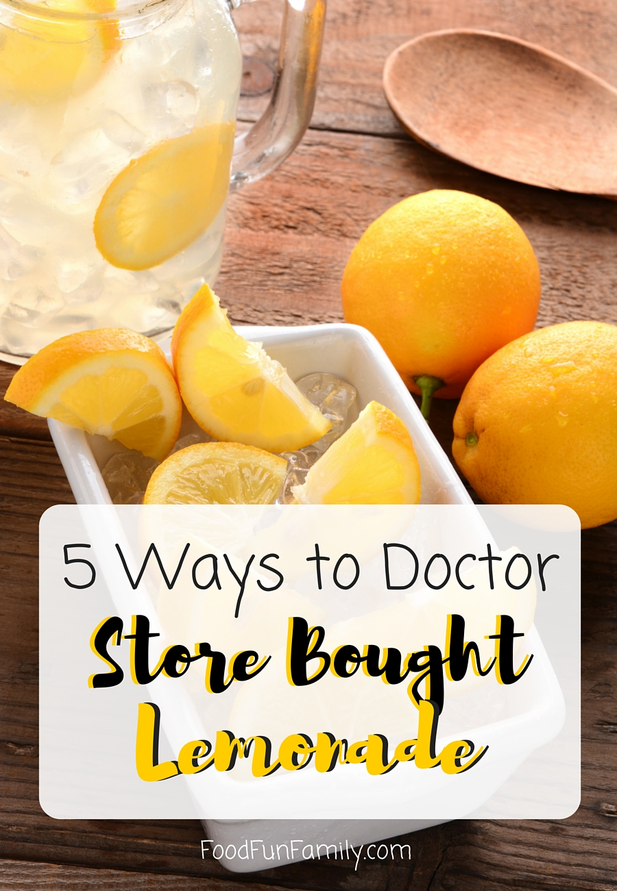 5 Ways to Doctor store bought lemonade to make a specialty drink that is both refreshing and crowd-pleasing!