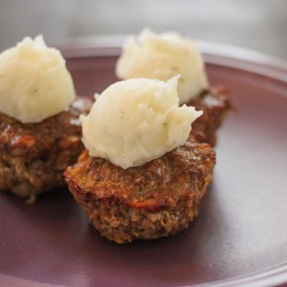 Meatloaf Muffins with Ranch Style Mashed Potatoes