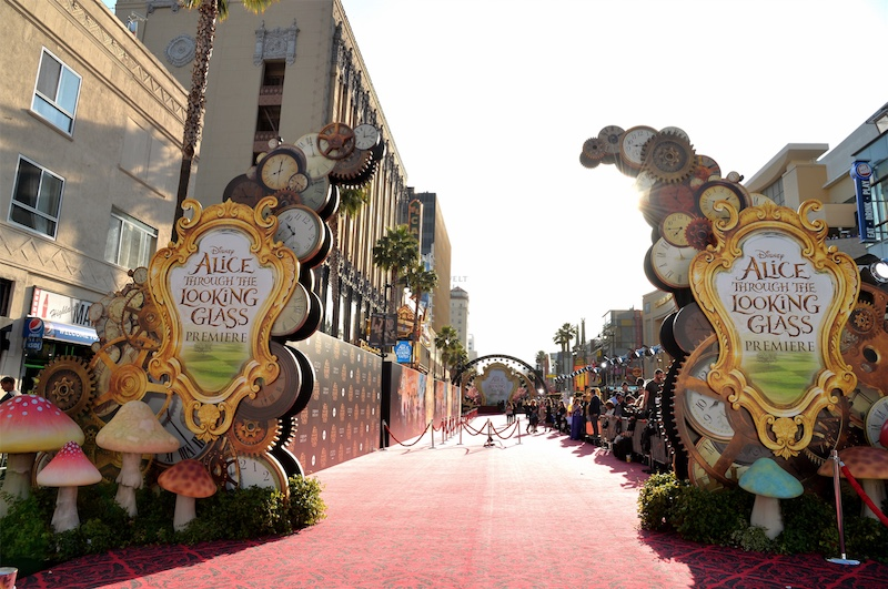 Alice Through the Looking Glass empty red carpet