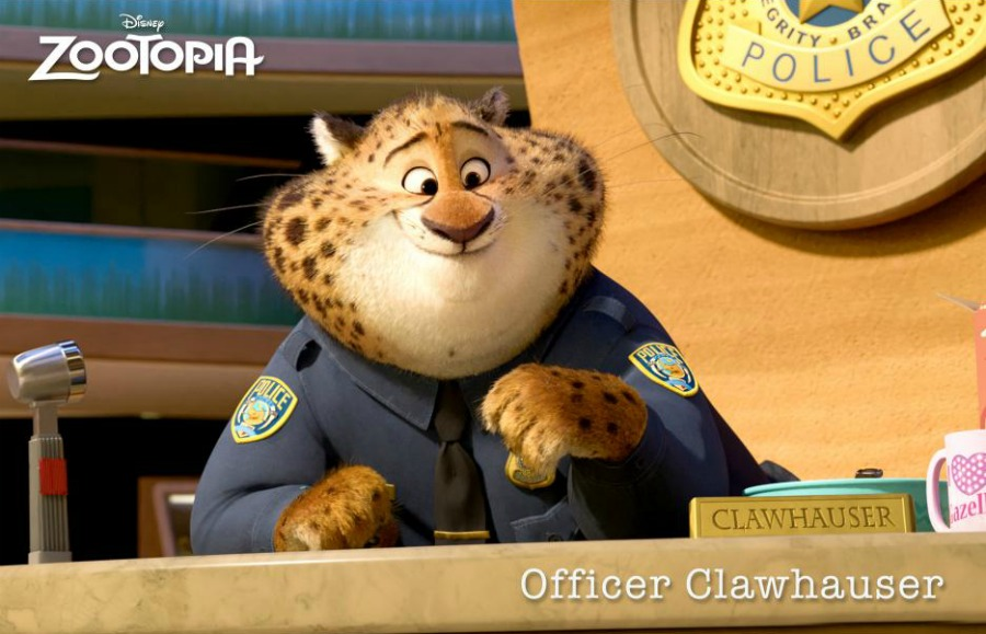 Officer Clawhauser of Zootopia