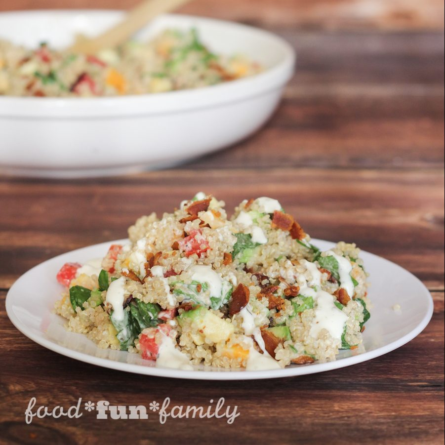 Avocado Bacon Ranch Quinoa Salad