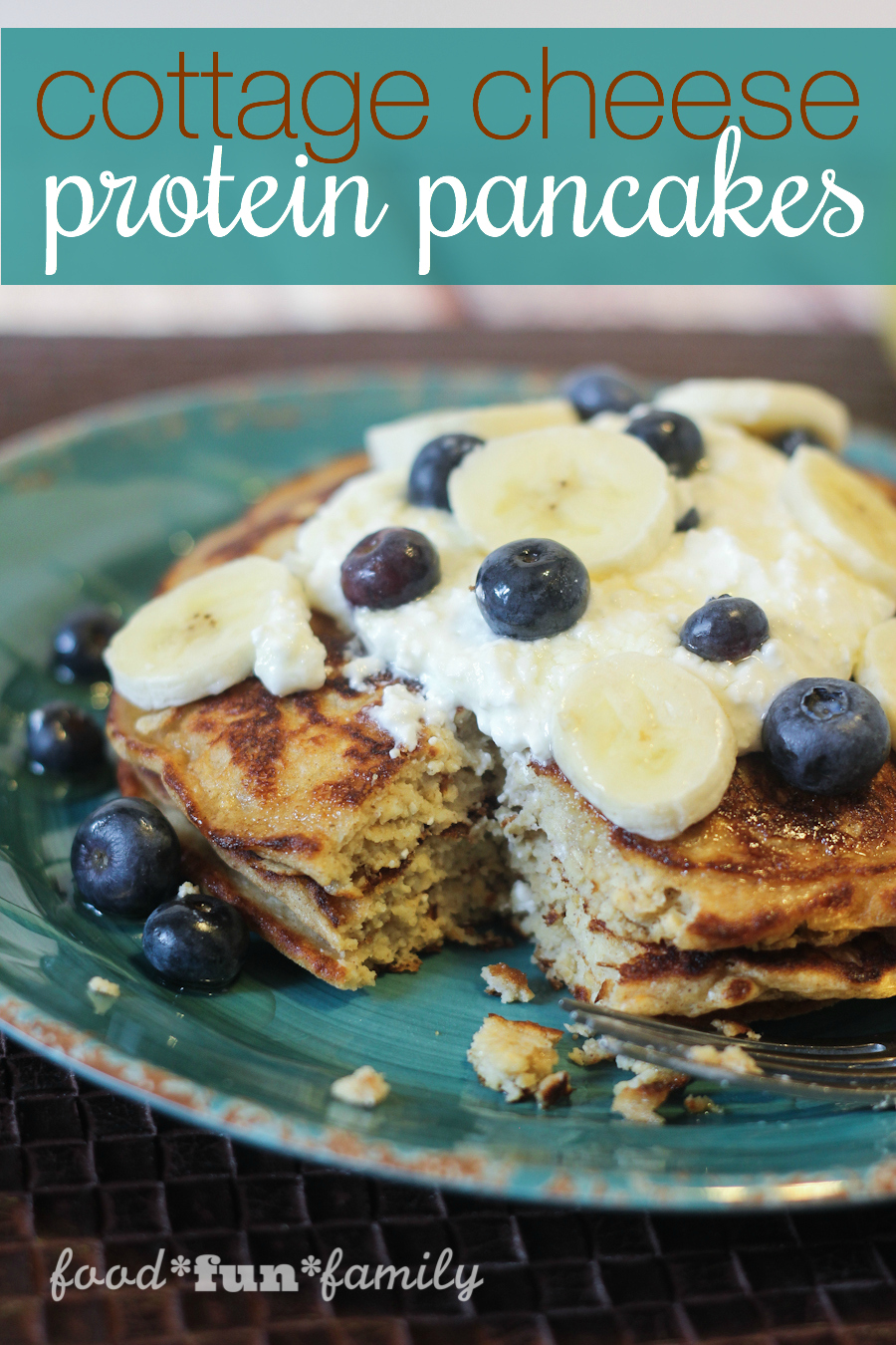 Cottage Cheese Protein Pancakes - a delicious, filling breakfast recipe that can be a great alternative for a high protein or gluten-free diet