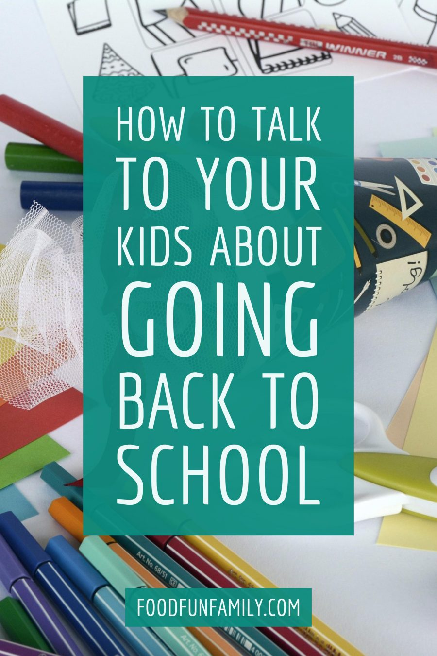 How to talk to your kids about back to school, and what preparing for the emotional aspect of back to school season is just as important as the school supply shopping trip
