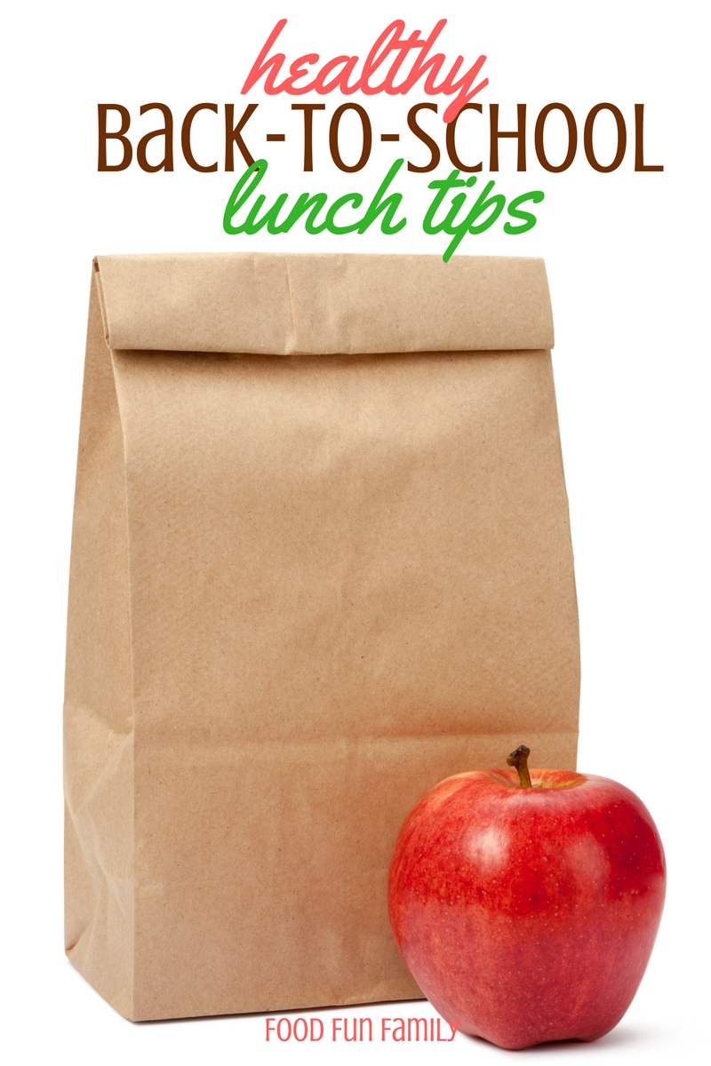Healthy Back-to-School Lunch Tips to make getting ready for school each morning easier and less hectic, and for making sure that the kids are eating a healthy, filling lunch each day
