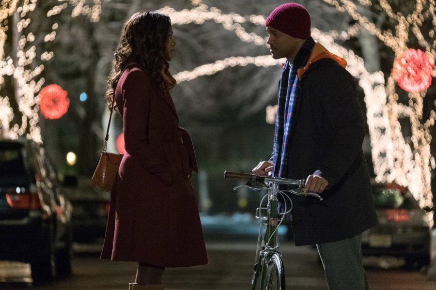 Naomie Harris and Will Smith in Collateral Beauty -- Photo by Barry Wetcher - © 2016 Warner Bros. Entertainment Inc., Village Roadshow Films North America Inc. and Ratpac-Dune Entertainment LLC