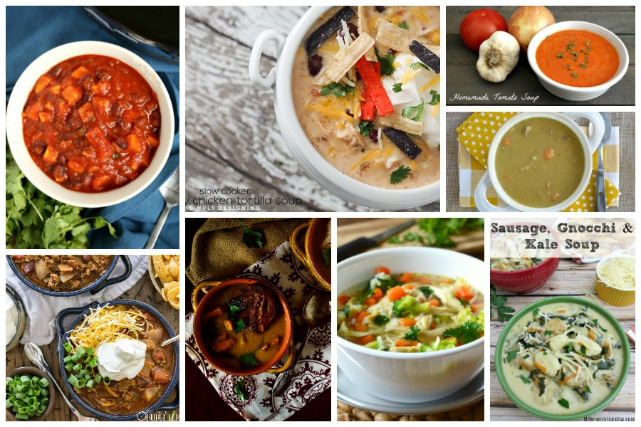 Delicious Dishes Recipe Party #43 - we've chosen a delicious collection of homemade soups that the whole family will love!