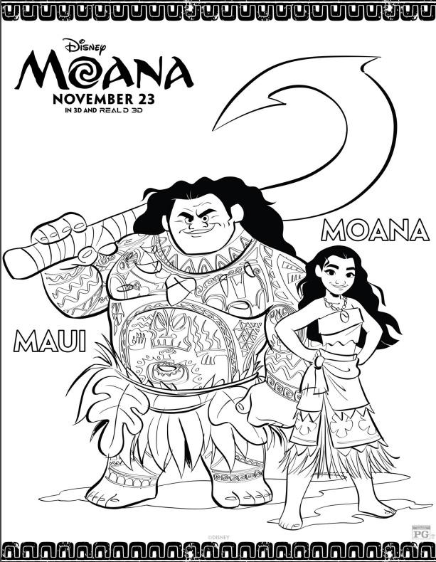 Maui and Moana 1