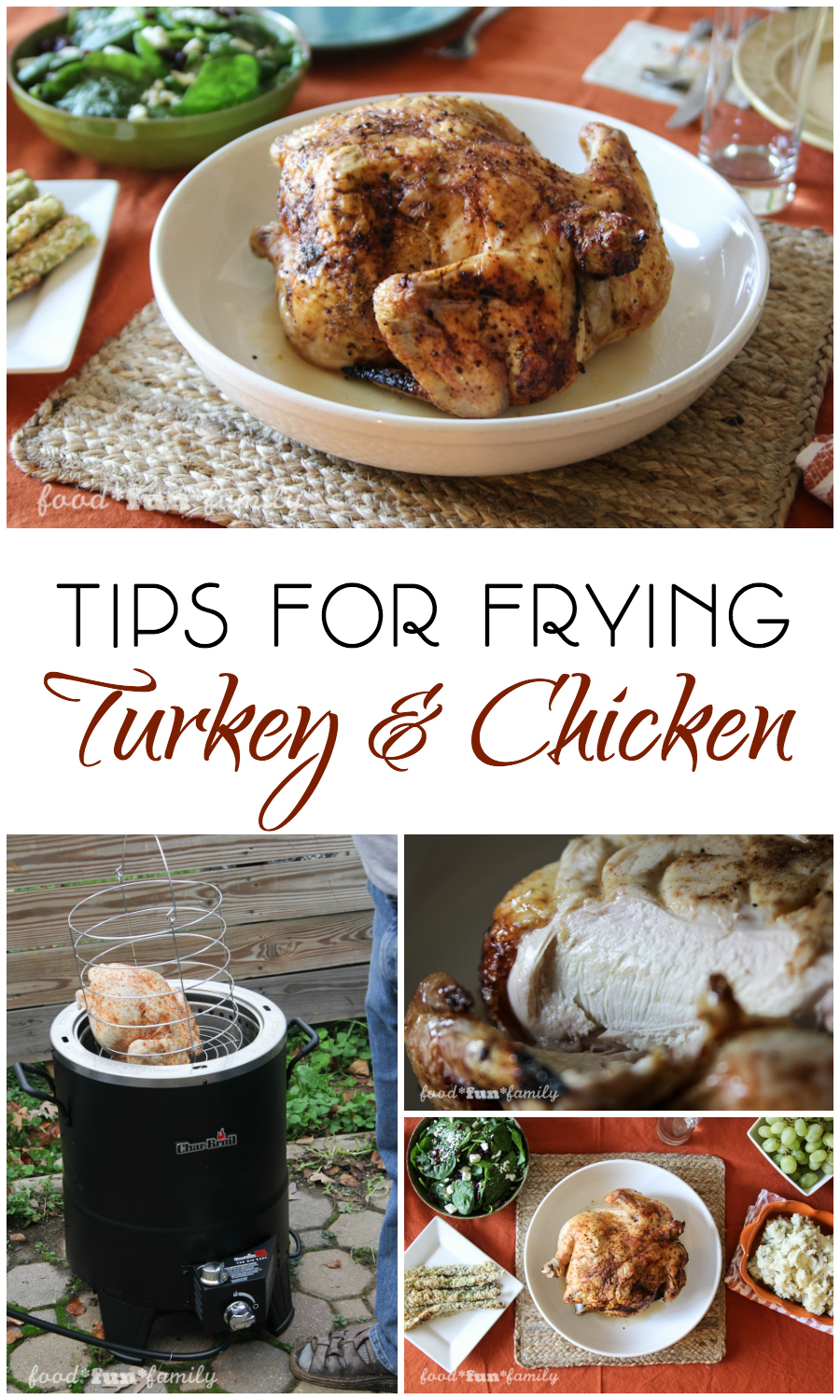 Tips for frying turkey (or chicken) - which turkey fryer is right for you, and how you can ensure a successful turkey frying experience!